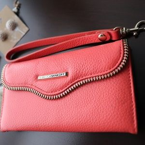Rebecca Minkoff Coral Leather Iphone 6 Wristlet